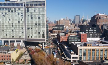 Meatpacking District y Highline vistos dese el Whitney