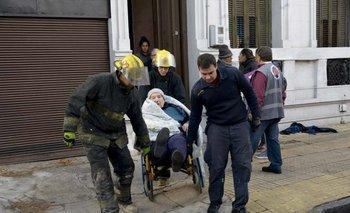 Siete personas fallecieron a consecuencia del incendio en el centro. D. Battiste