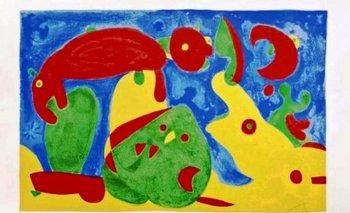 Las obras rematadas fueron donadas por Joan Punyet Miró, nieto del pintor catalán<br>