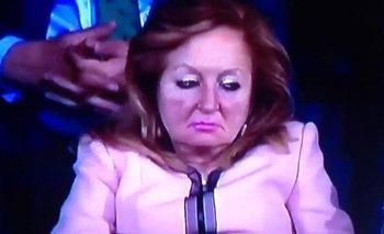 La mujer de rosa de redes sociales.<br>