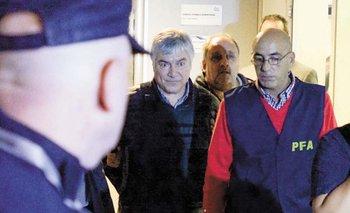 El empresario argentino Lázaro Báez cuando era detenido por las autoridades en abril de 2016