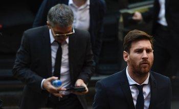 Messi y su padre<br>