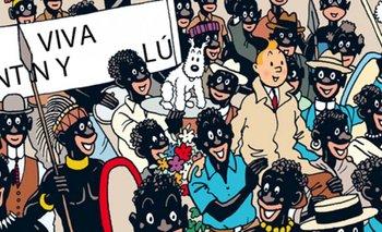 """La página Nº 9 del cómic """"Tintín en el Congo""""<br>"""