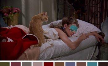 La cuenta de twitter muestra los colores del cine, una de las películas elegidas es Desayuno en Tiffany