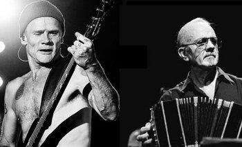 Michael Peter Balzary, más conocido como Flea, el bajista australiano de los Chili Peppers, es admirador del bandoneonista argentino Piazzolla<br>