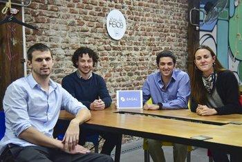 Alan Bukstein, Alejandro Tocar, Simón Seitune Macadar y Lorena Jinchuk