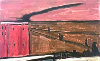 Una de las obras pintadas por el artista Gabriel Bruzzone será también subastada<br>