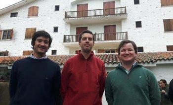Los expositores Juan Lariguet, Sebastián Mazzilli y Juan Diego Cano