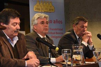 Julio Cardozo, Tabaré Aguerre y Rodolfo Nin Novoa