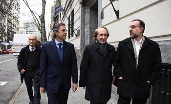 Claudio Williman, director de la UDE, Jorge Grunberg, rector de la ORT y Eduardo Casarotti, rector de la Ucudal
