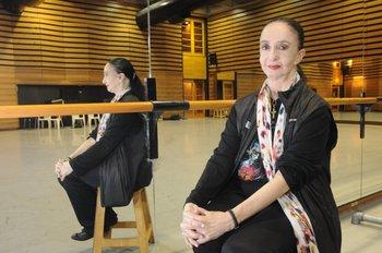 La coreógrafa Marcia Haydée en el Auditorio del Sodre<br>