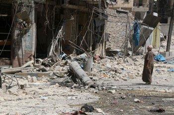 La zona de Tariq al-Bab en Alepo, una de las más castigadas por la guerra civil<br>