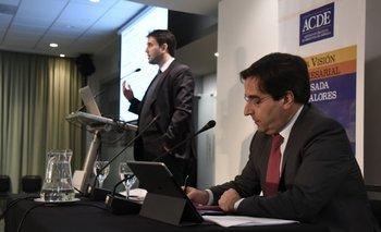 Luciano Cohan y Aldo Lema en la conferencia<br>