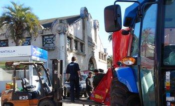 Intenso trabajo en cada una de las calles de la Rural del Prado.<br>