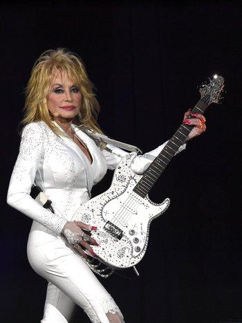Dolly Parton en su gira con Pure & Simple por Nashville.