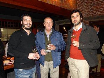 Jesús Domínguez, Eduardo Calvo y Bernardo Ureta