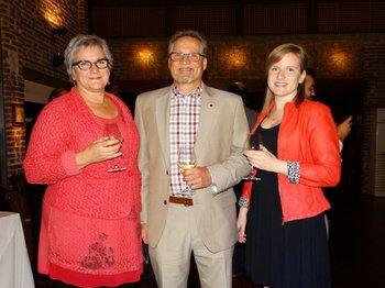 Joanne Frappier, Albert Potvin y Camille Potvin