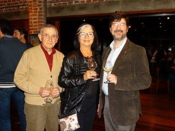 Benjamín Doño, Nilda Medina y Walter Fernández