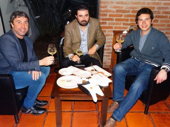 Eduardo Panasco, Pablo Costabel y Diego Domínguez