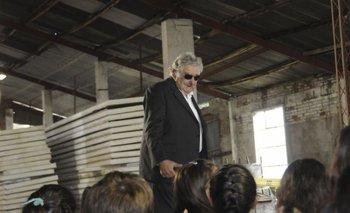 Mujica el día en que se inauguró la escuela