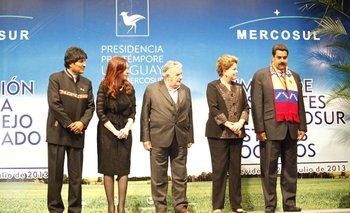 En la cumbre presidencial de 2012 Venezuela se incorporó al Mercosur