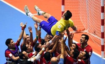 Los jugadores de Irán homenajearon a Falcao