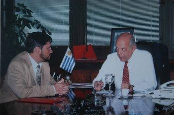 Batlle con el entonces director de la DGI, Eduardo Zaidensztat <br>