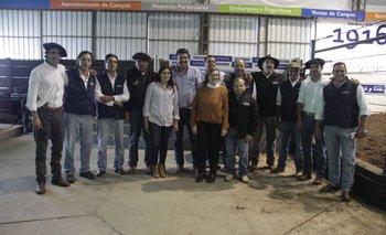 Integrantes de la familia Duarte y del escritorio Valdez este miércoles en Don Tito<br>