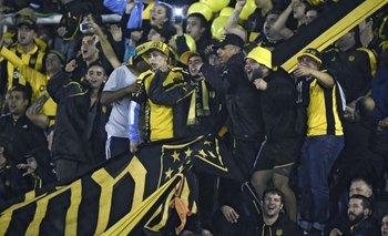 La hinchada de Peñarol tuvo problemas al final del partido