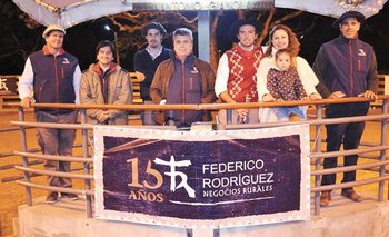 Integrantes del escritorio Federico Rodríguez y de estancia Chimango