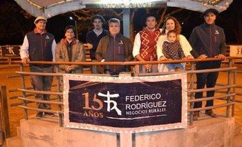 Integrantes del escritorio Federico Rodríguez y de Estancia Chimango en el local Conventos<br>