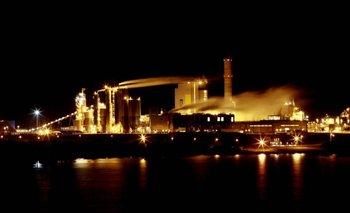 La planta de celulosa de UPM ubicada en Fray Bentos.