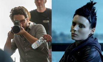 Federico Álvarez en el rodaje de <i>No respires </i>y Rooney Mara como Lisbeth Salander<br>