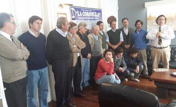 Representantes de la familia Sanguinetti Gallinal y de los escritorios Victorica y Dutra Hermanos