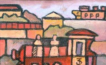 Obra del pintor uruguayo Pablo Peralta que también será subastada<br>
