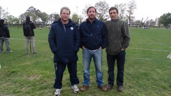 Federico Cibils, Santiago Zeballos y Francisco Armas