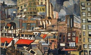 <p>Puerto de Nueva York, obra de Joaquín Torres García que subastará Christie