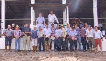 Integrantes de la familia García Pintos y de los escritorios rematadores<br>