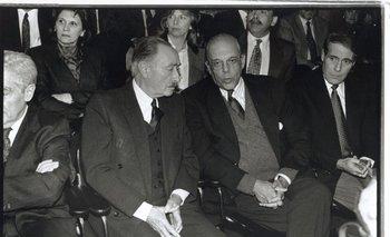 Líber Seregni, primer líder de la coalición de izquierda, y Jorge Batlle, quien despojó al Batllismo de su fervor estatista