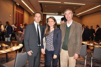 Claudio Muzi, Laura Scarpa y Daniel Telechea