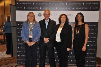 Graciela Raybaud, Jorge Velasco, Valerie Schuhl y Carolina Bellenda