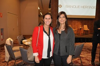 Pilar Aguerrebere y Valentina Larrobla