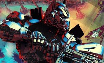 Arte promocional de T<i>ransformers: el último caballero</i>