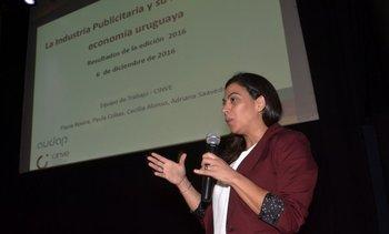 En representación de Cinve, Paula Cobas presentó los resultados del estudio<br>