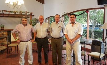 José Pedro Aicardi, Roberto Cardellino, Roberto Vázquez Platero y Juan Miguel Otegui