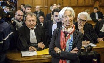 La directora gerente del FMI y exministra francesa de Finanzas, Christine Lagarde, en la Corte de Justicia de la República (CJR), en París (Francia), el 12 de diciembre de 2016