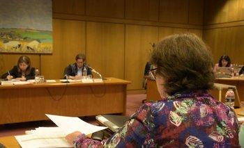 La presidenta del INAU, Marisa Lidner, en su comparecencia en el Parlamento por Aldeas de la Bondad. Archivo.