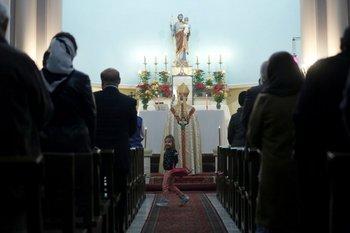Misa de Navidad en una iglesia en Irán