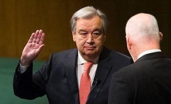 El portugués Antonio Guterres fue electo secretario general de las Naciones Unidas en octubre de 2016, prestó juramento al organismo el pasado 12 de diciembre y asumió su cargo el domingo 1 de enero de 2017.