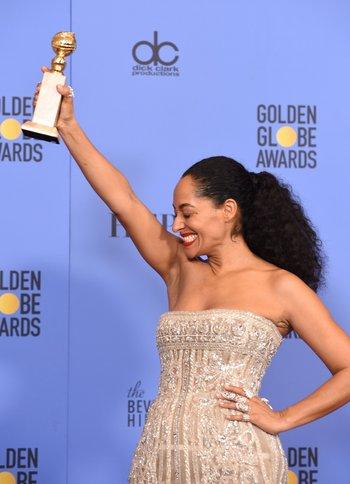 Tracee Ellis Ross, ganadora como Mejor actriz de comedia por la serie <i>Black-ish</i>, es la primera afroamericana en ganar en su categoría desde 1983